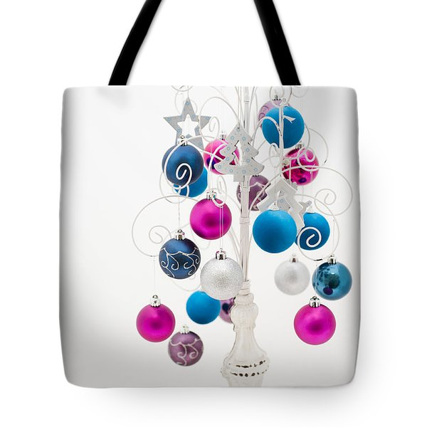 Shabby Chic Christmas Tote Bag by Anne Gilbert