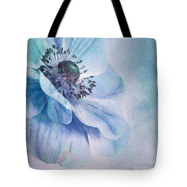 Shades Of Blue Tote Bag by Priska Wettstein