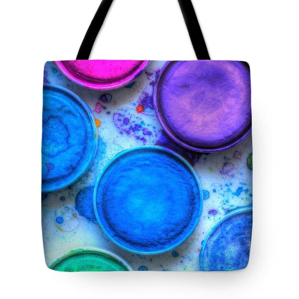 Shades Of Blue Watercolor Tote Bag by Heidi Smith