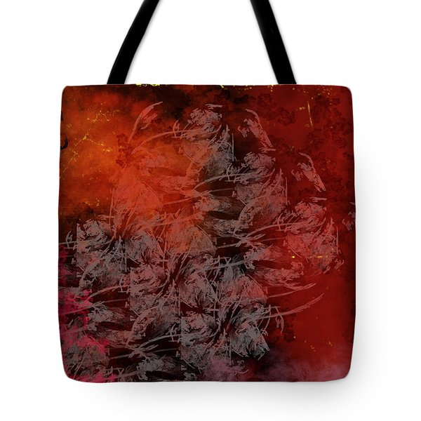 Shadow And Flame Tote Bag by Christopher Gaston