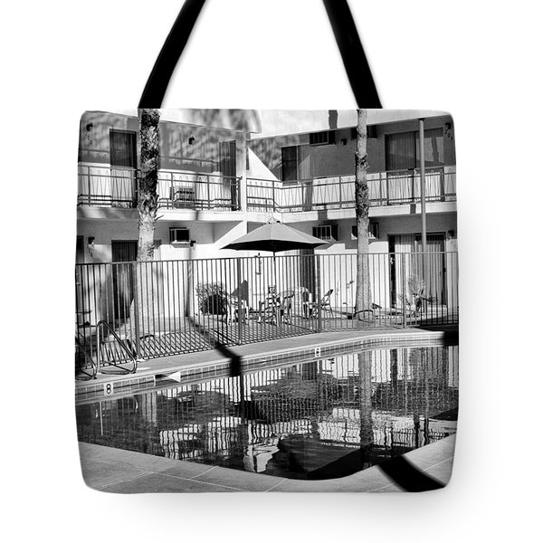 SHADOWS IN PARADISE Palm Springs Tote Bag by William Dey