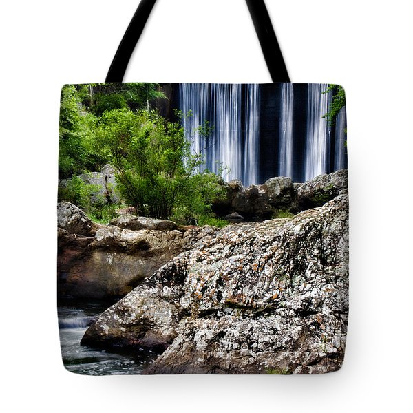 Shady Lake Falls Tote Bag by Lana Trussell