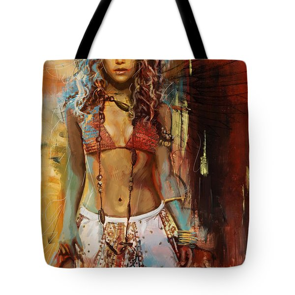 Shakira  Tote Bag by Corporate Art Task Force