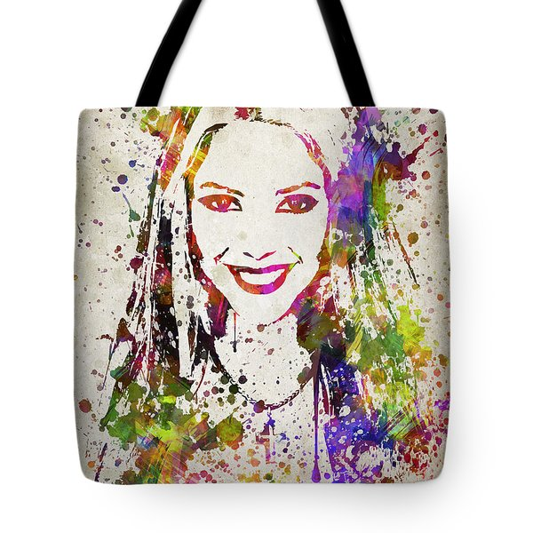 Shakira In Color Tote Bag by Aged Pixel