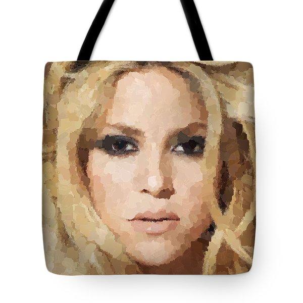 Shakira Portrait Tote Bag by Samuel Majcen
