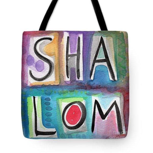 Shalom - Square Tote Bag by Linda Woods