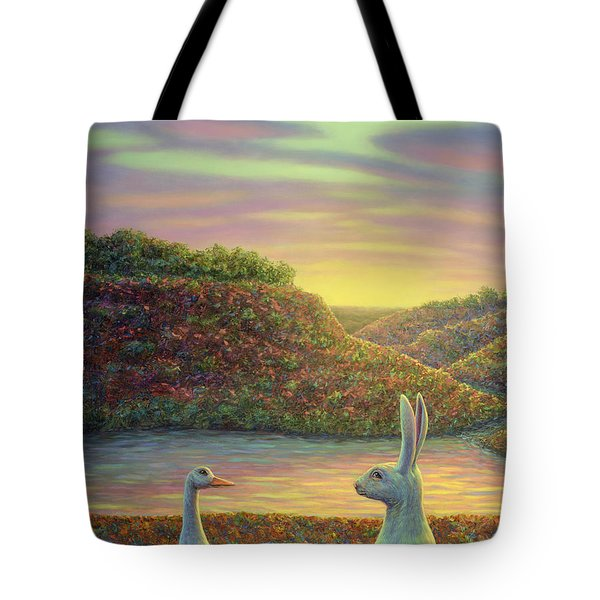 Sharing A Moment Tote Bag by James W Johnson