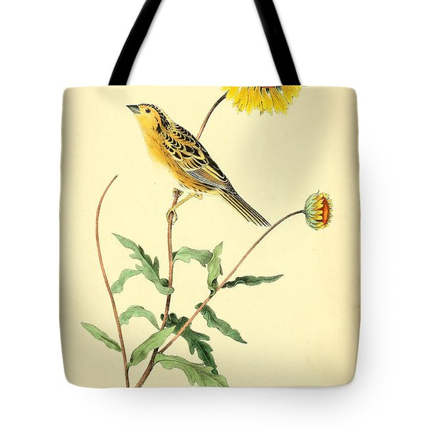 Sharp-Tailed Bunting Tote Bag by Philip Ralley
