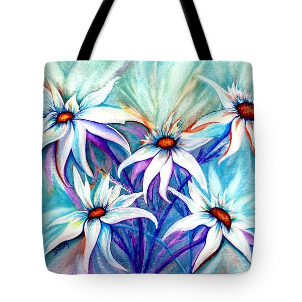 Shasta Daisy Dance Tote Bag by Janine Riley