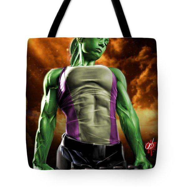 She-Hulk 2 Tote Bag by Pete Tapang