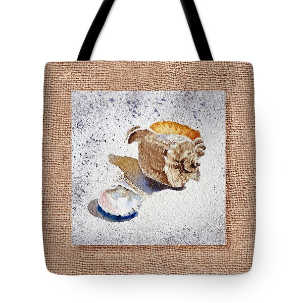 She Sells Sea Shells Decorative Collage Tote Bag by Irina Sztukowski