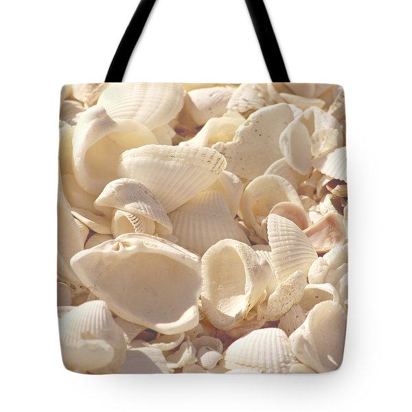 She Sells Seashells Tote Bag by Kim Hojnacki