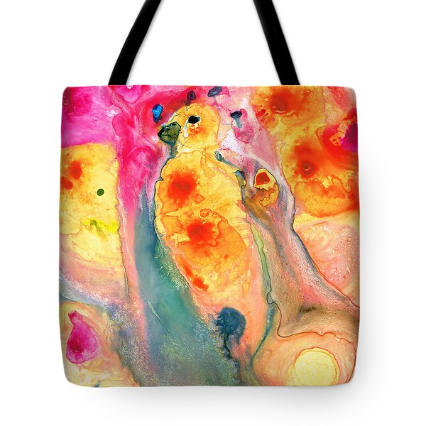 She Sings - Yellow Bird Art By Sharon Cummings Tote Bag by Sharon Cummings