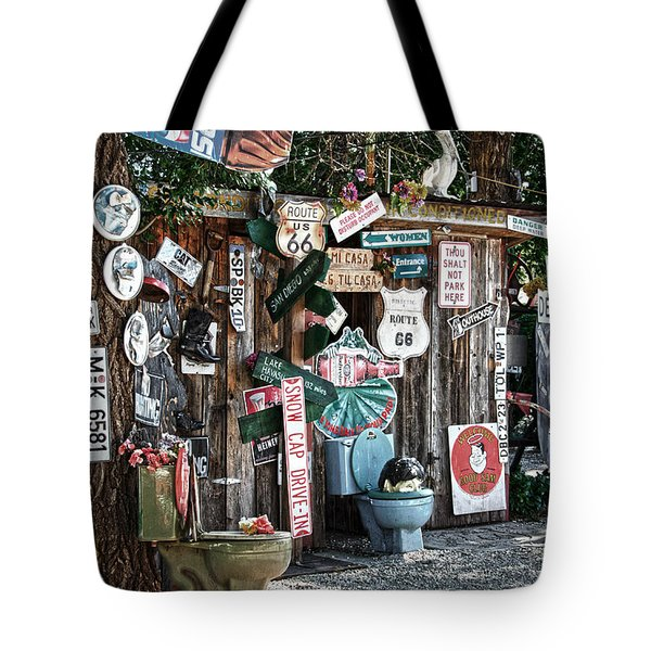 Shed Toilet Bowls And Plaques In Seligman Tote Bag by RicardMN Photography