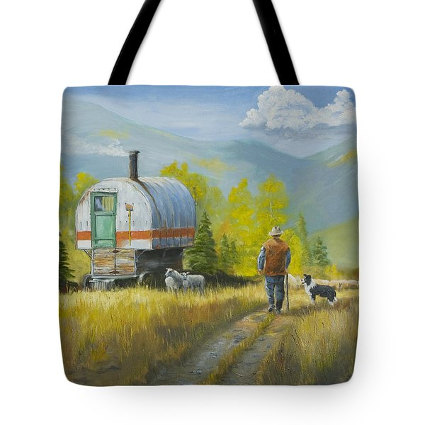 Sheep Camp Tote Bag by Jerry McElroy
