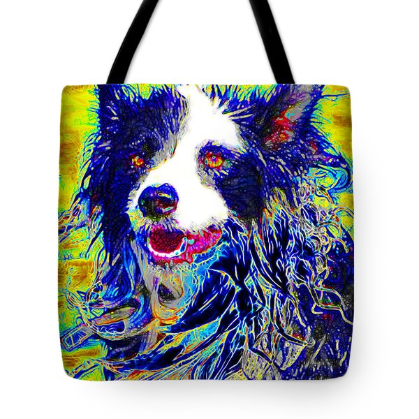 Sheep Dog 20130125v1 Tote Bag by Wingsdomain Art and Photography