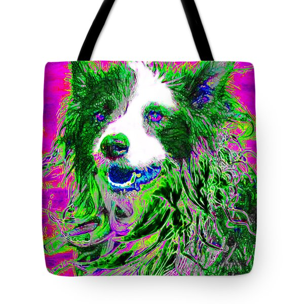 Sheep Dog 20130125v2 Tote Bag by Wingsdomain Art and Photography