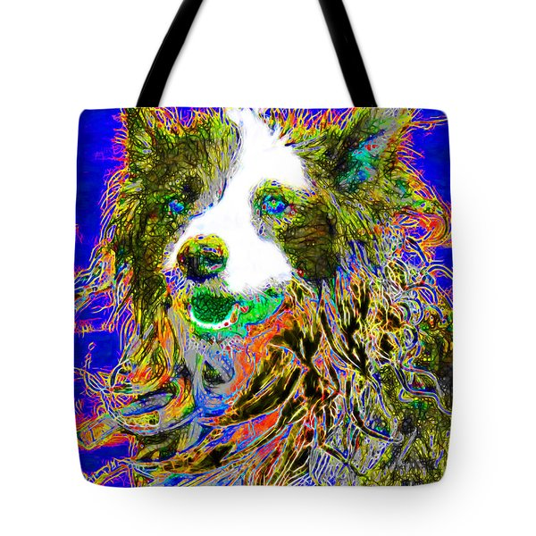 Sheep Dog 20130125v3 Tote Bag by Wingsdomain Art and Photography