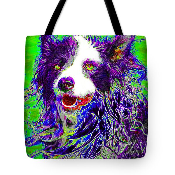 Sheep Dog 20130125v4 Tote Bag by Wingsdomain Art and Photography