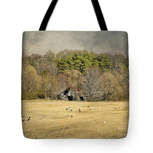 Sheep in the South Tote Bag by Jai Johnson