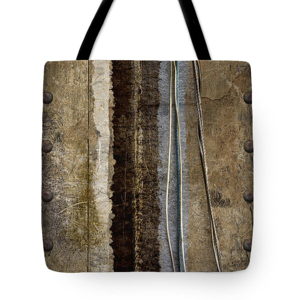Sheetmetal Strings Tote Bag by Carol Leigh