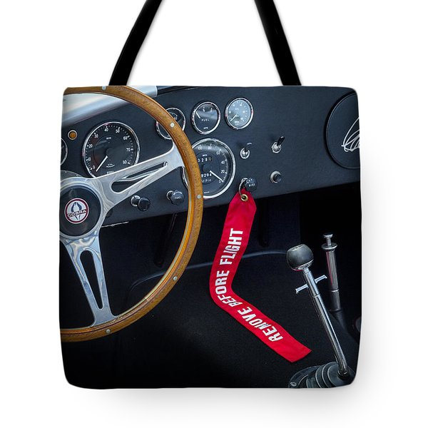 Shelby Cobra Tote Bag by Bill  Wakeley