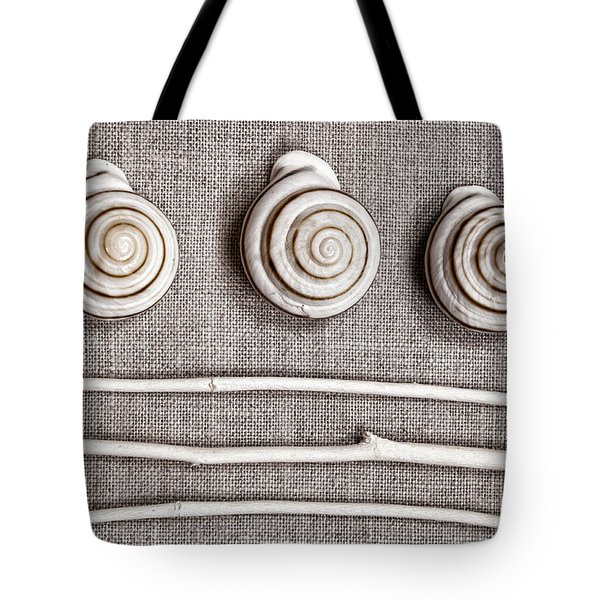 Shells And Sticks Tote Bag by Carol Leigh