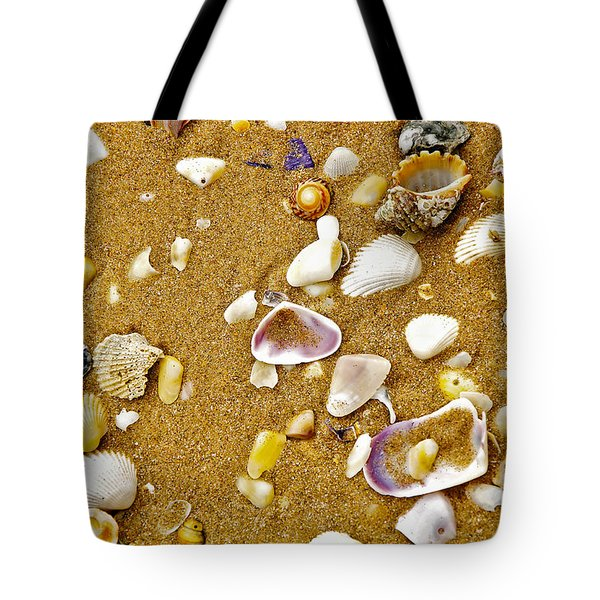 Shells In The Sand Tote Bag by Kaye Menner