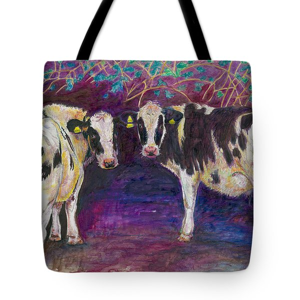 Sheltering Cows Tote Bag by Helen White