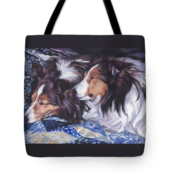 Sheltie Love Tote Bag by Lee Ann Shepard
