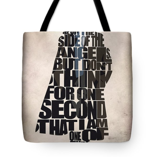 Sherlock - Benedict Cumberbatch Tote Bag by Ayse Deniz