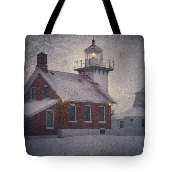 Sherwood Point Light Tote Bag by Joan Carroll