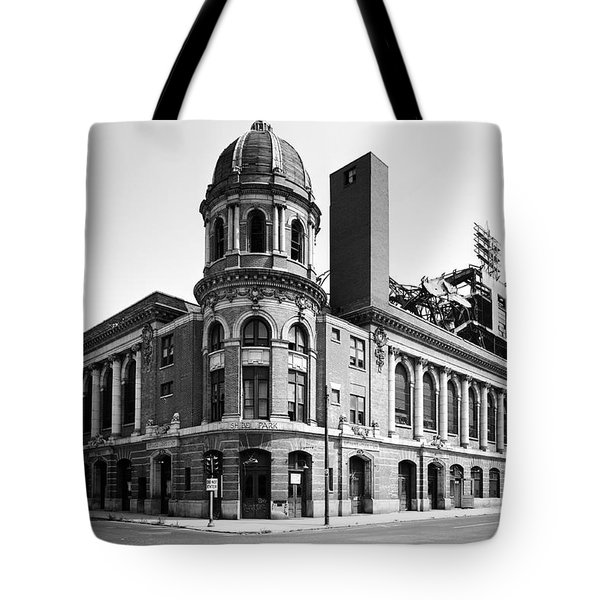 Shibe Park In Black And White Tote Bag by Bill Cannon