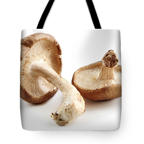 Shiitake Mushrooms Tote Bag by Elena Elisseeva