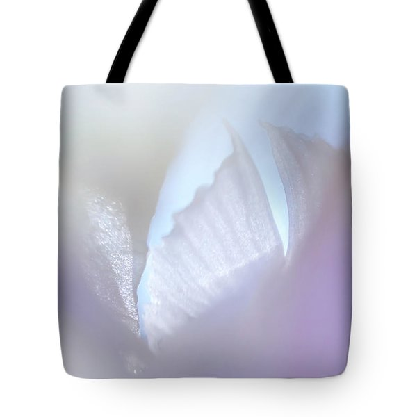 Shimmering Light. Iris Series Tote Bag by Jenny Rainbow