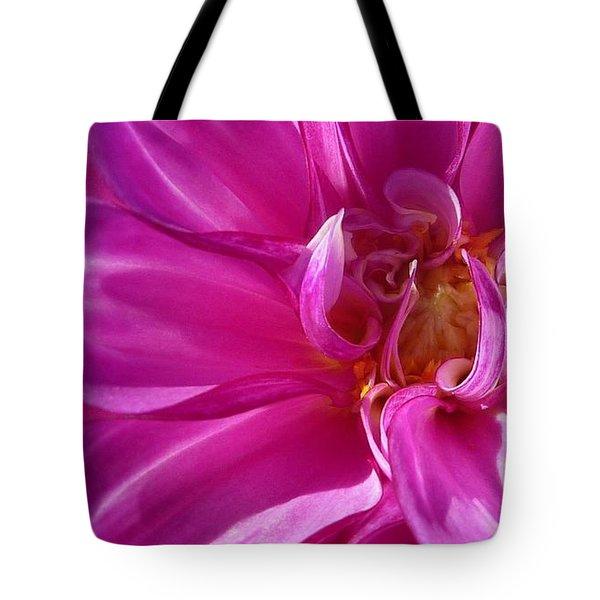 Shimmering Pink Dahlia Flower Tote Bag by Susan Garren