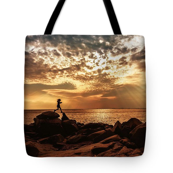 Shine on Me Tote Bag by Mary Amerman