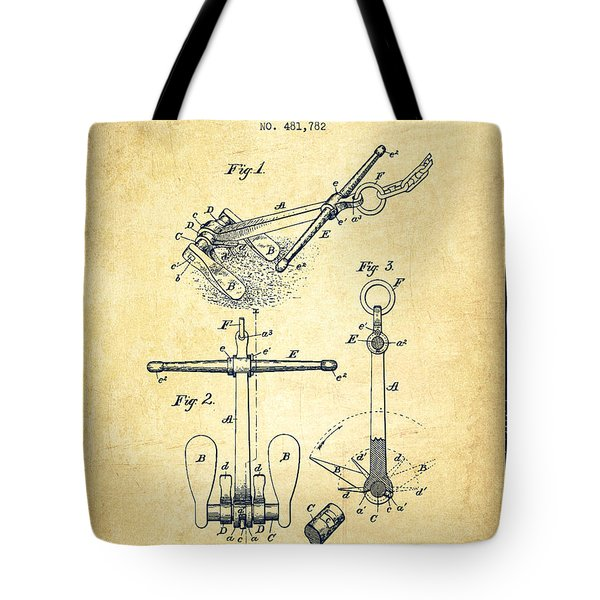 Ship Anchor Patent From 1892 - Vintage Tote Bag by Aged Pixel
