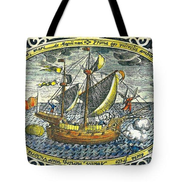 Ship Of Magellan Tote Bag by Akg