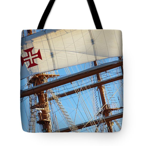 Ship Rigging Tote Bag by Carlos Caetano
