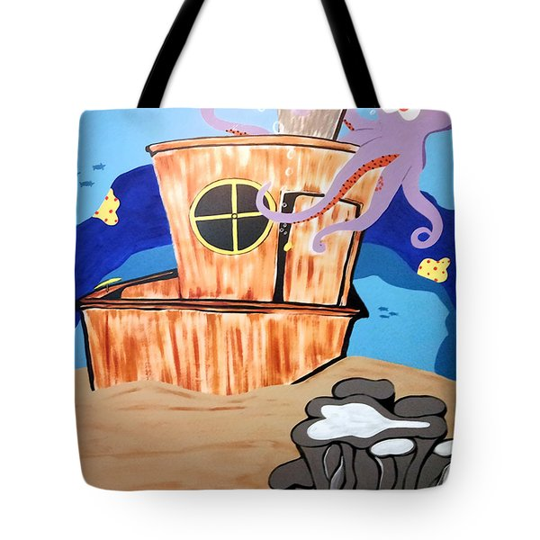 Ship Wrecked Tote Bag by Tami Dalton
