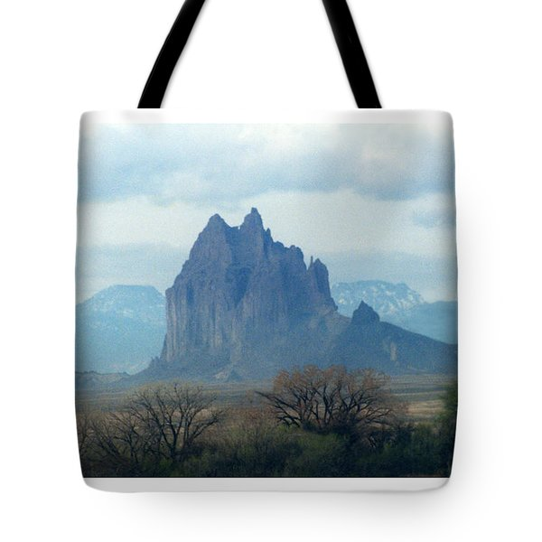 Shiprock  Mystical Mountain New Mexico Tote Bag by Jack Pumphrey