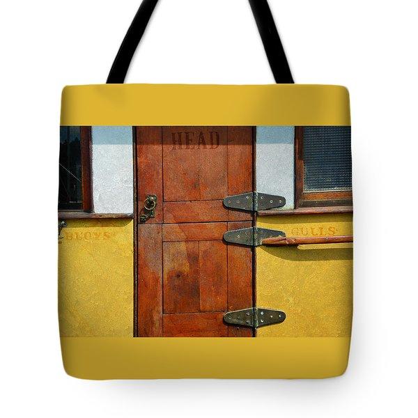 Ship's Head Tote Bag by Ed Hall