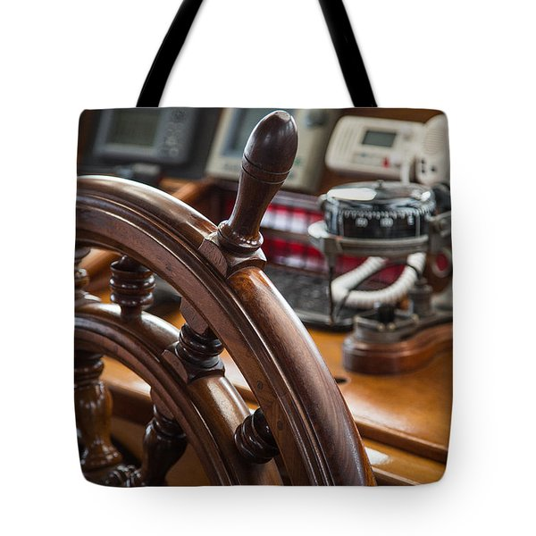 Ships Wheel Tote Bag by Dale Kincaid