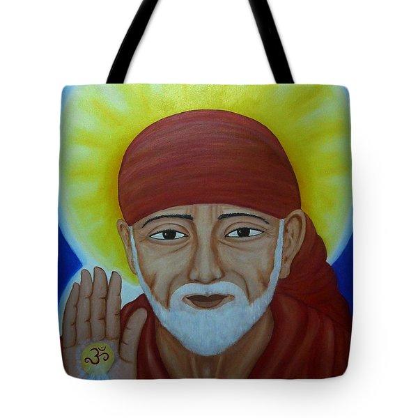 Shirdi Sai Baba Tote Bag by Vimala Jajoo