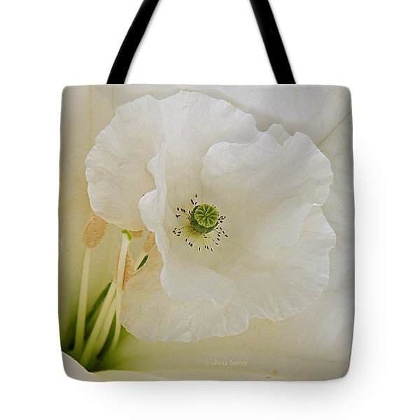 Shirley And The Moonflower Tote Bag by Chris Berry
