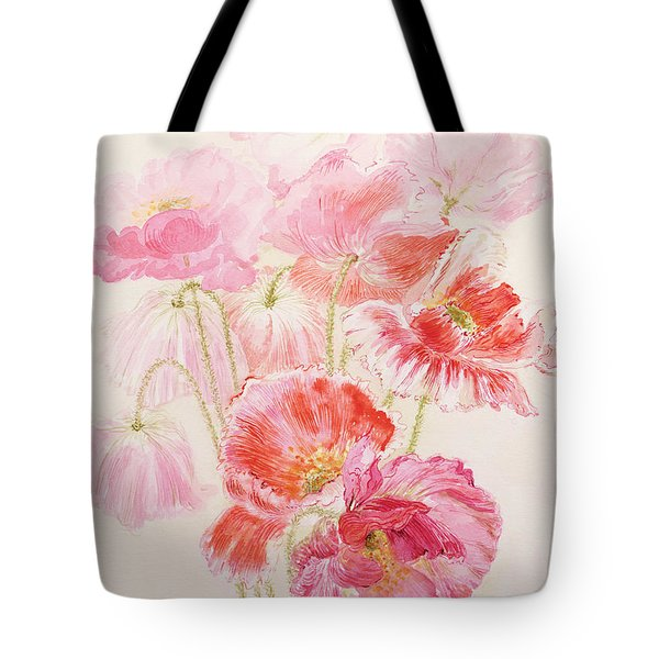 Shirley Poppies Tote Bag by Joan Thewsey