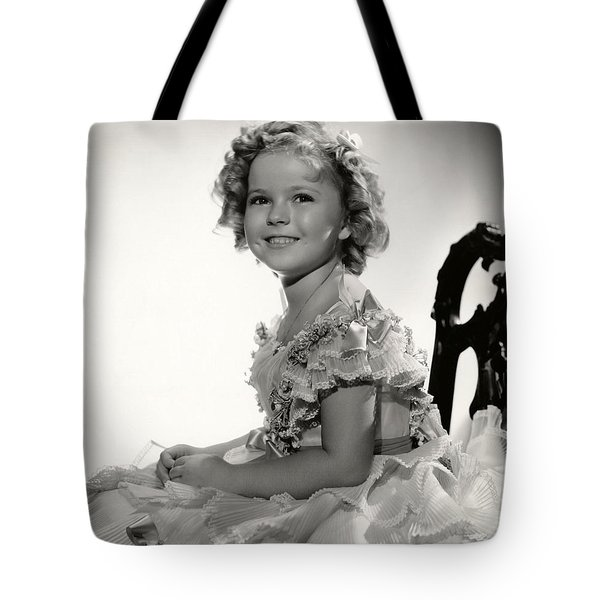 Shirley Temple Portrait Tote Bag by Nomad Art