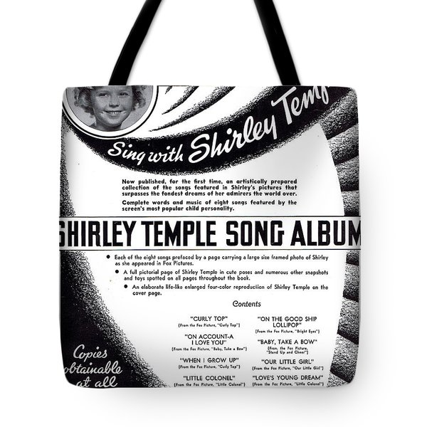 Shirley Temple Song Album Tote Bag by Mel Thompson