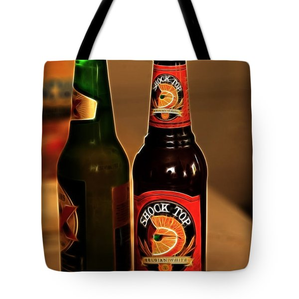 Shock Top Tote Bag by Cheryl Young
